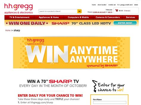 Hhgregg Sweepstakes - hhgregg sharp tv sweepstakes