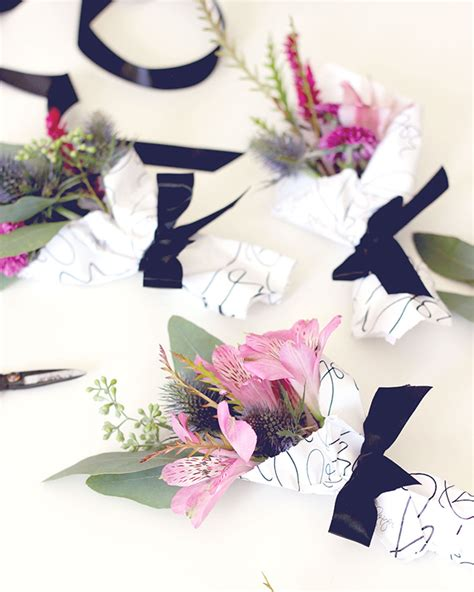printable miniature flowers diy mini flower bouquet with printable paper wrap