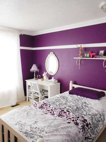 deep purple painted wall   white