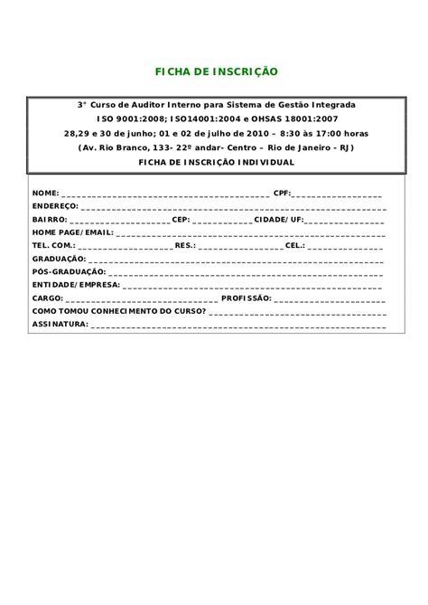 auditor interno curso auditor interno