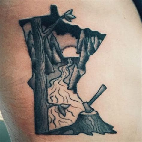 minneapolis tattoo saintsabrinas minnesooooota by mike grant