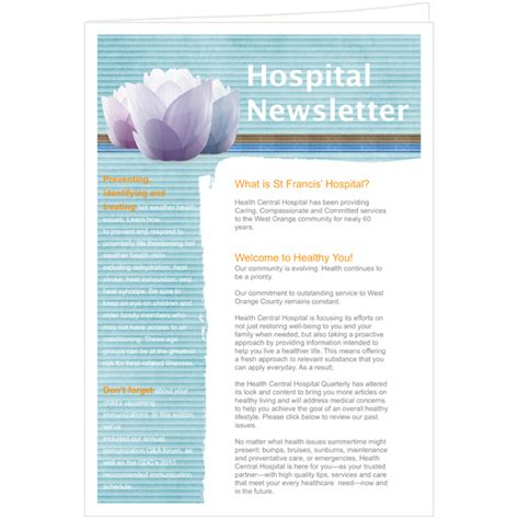 high school newsletter word template publisher template