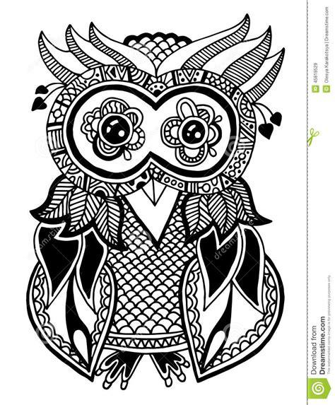 imagenes originales a blanco y negro illustrations originales de hibou dessin de main d encre