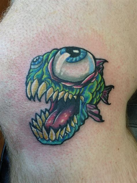 tattoo fixers cartoon piranha cartoon tattoo i did today he was fun tattoo