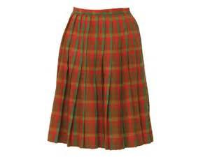 1960 s vintage plaid skirt 60s no label womens box