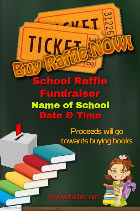 raffle poster templates school raffle fundraiser template postermywall