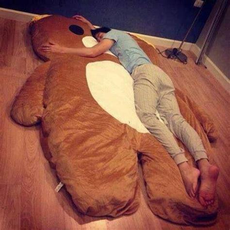 teddy bear bed dark brown giant huge rilakkuma bed carpet sofa mattess