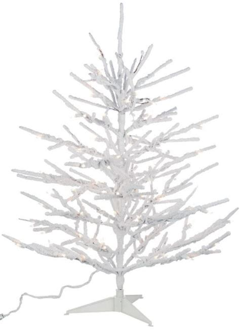 84 quot sparse branches flocked snow covered pre lit christmas