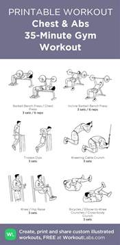 chest abs 35 minute workout my custom exercise