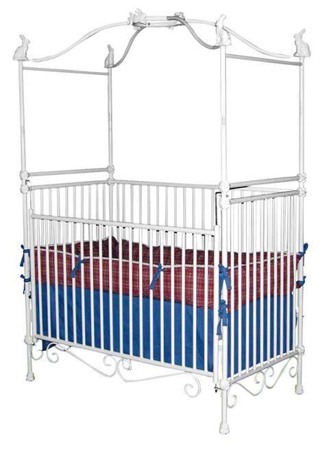Cribs With Canopy by White Canopy Crib With Bunnies