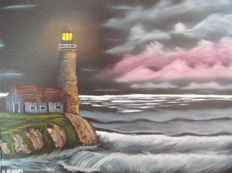 bob ross painting lighthouse 301 moved permanently
