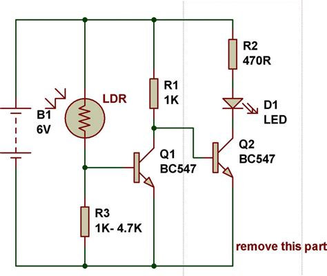 light sensor circuit ldr light sensor circuit