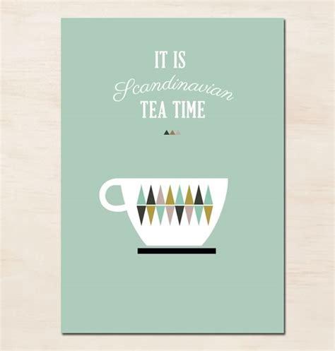 Free Kitchen Design Service scandinavian tea time poster handmade loves