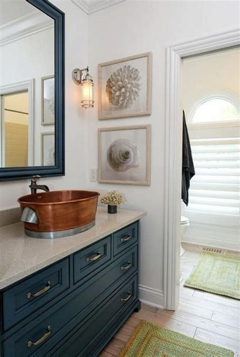 navy vanity sea inspired bathroom decor ideas inspiration and ideas