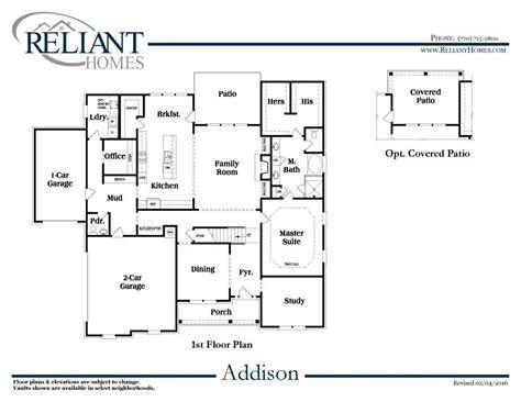 addison floor plan addison b se reliant homes new homes in atlanta