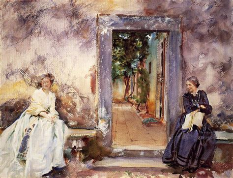 the garden wall the garden wall 1910 singer sargent wikiart org