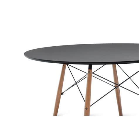 Replica Eames Dining Table Eames Dsw Large Dining Table Replica In Black Buy Furniture