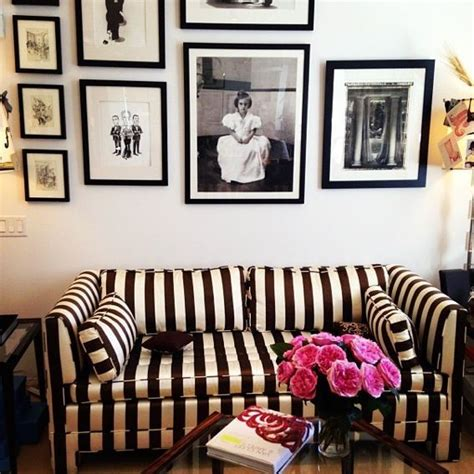 black and white striped couch belle maison pinterest