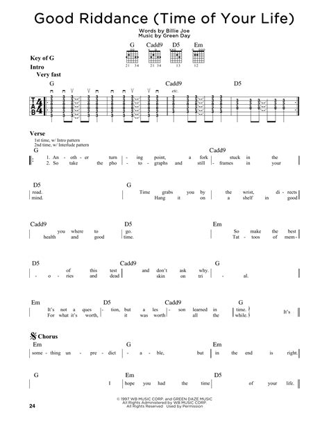 free download mp3 good riddance time of your life good riddance time of your life sheet music direct