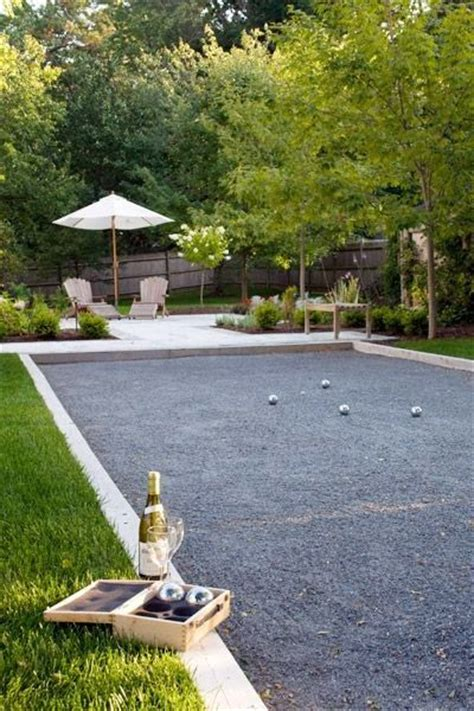 backyard bocce court bocce court i have the spot picked out already i just