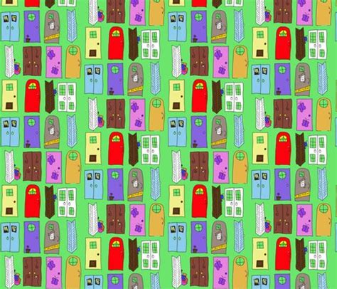 accurate background inc quot monsters inc quot doors fabric squeaky designs spoonflower