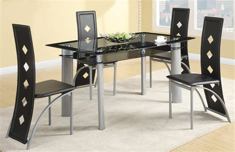 metal dining room set fontana silver metal dining room set from coaster 121051 coleman furniture