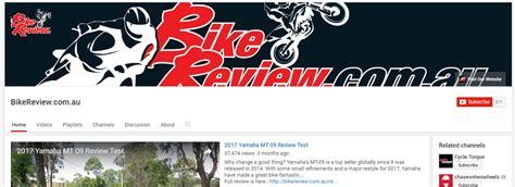 Check out our YouTube channel and subscribe!   Bike Review