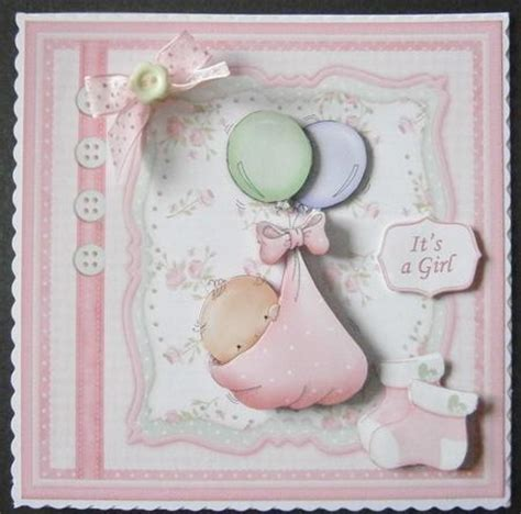 Baby Decoupage - baby balloons card topper decoupage cup578444 68