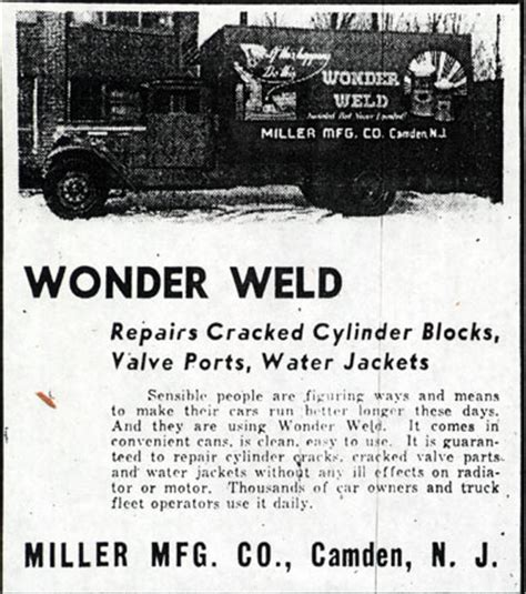 camden nj weld the miller manufacturing company
