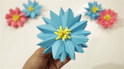 Paper L Ideas - diy how to make paper flower l easy to make l paper
