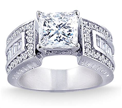 2.75 Carat Wide Band Diamond Engagement Ring