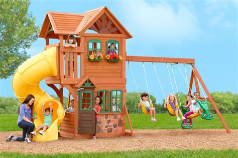 climbing frame with swing and slide goldenridge climbing frame with slide swings and