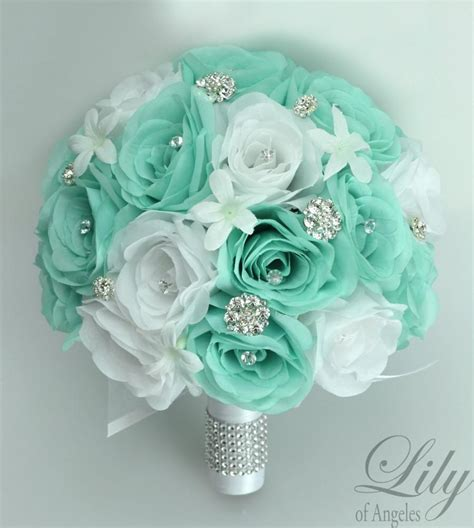 Wedding Bouquet Artificial by 17 Package Wedding Bridal Bouquet Silk Flowers