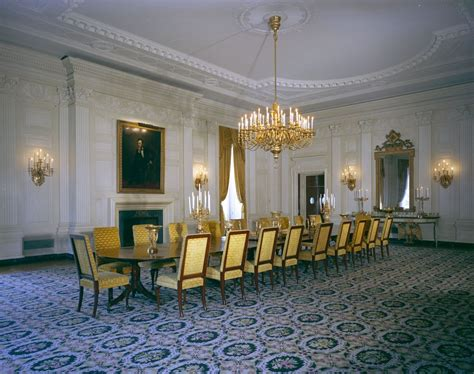White House State Dining Room White House Rooms State Dining Room F Kennedy Presidential Library Museum