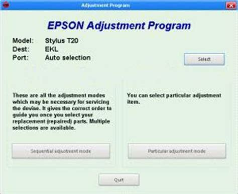 software adjustment resetter program epson t60 epson t60 counter reset software free download semday