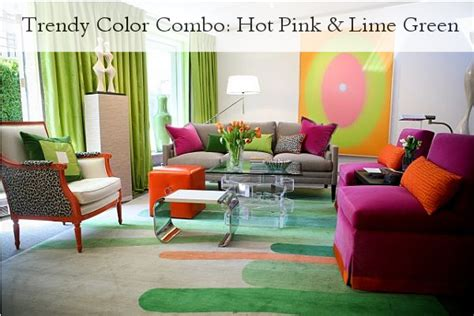 what colours go with lime green in living room trendy color combo pink lime green