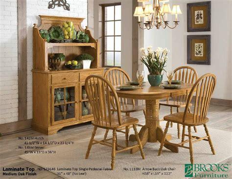 brooks furniture dining room laminate top medium oak