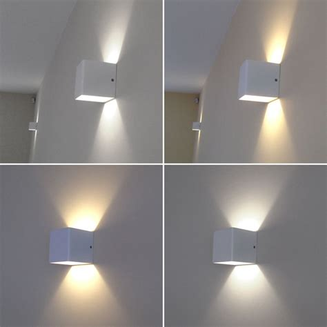 wall lighting fixtures living room square led wall lights living room home lighting wall washer cool warm white ebay