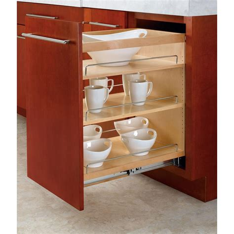 wood roll out cabinet shelves rev a shelf 25 48 in h x 14 in w x 22 47 in d pull out
