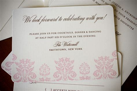 wedding invitation reception card exles gonul s vintage 1960s domb designer wedding