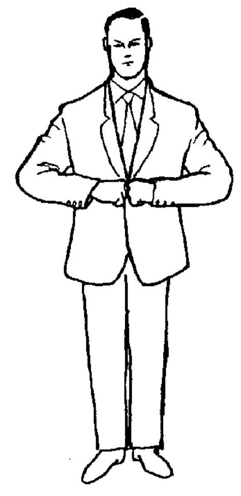 dibujos para nios de hombres para colorear pintar dibujo de hombre trajeado para pintar y colorear