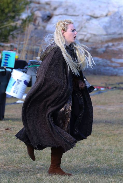 emma stone on the set of the new tv show maniac in emma stone on the set of the new tv show maniac in