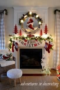 Christmas fireplace decorations on pinterest christmas fireplace