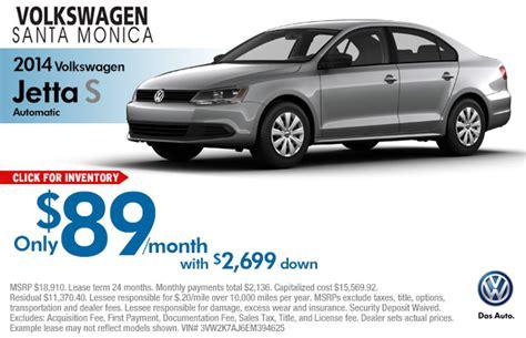 volkswagen jetta lease specials los angeles vehicle discount offers