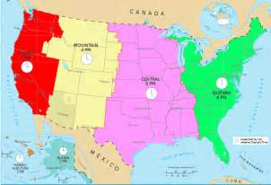 map of time zones in united states time and time zones mrdowling