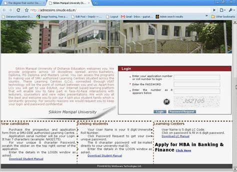 Mba In Banking And Finance From Sikkim Manipal by Sikkim Manipal Launches Mba In Banking