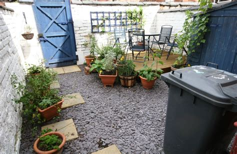 Turning a concrete terraced yard into a garden