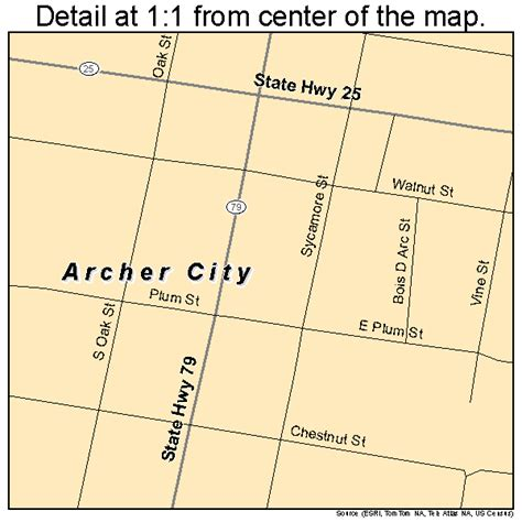 archer city texas map archer city texas map 4803696