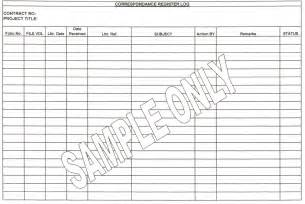 Controlled Register Template by Construction Manager Document And Correspondance