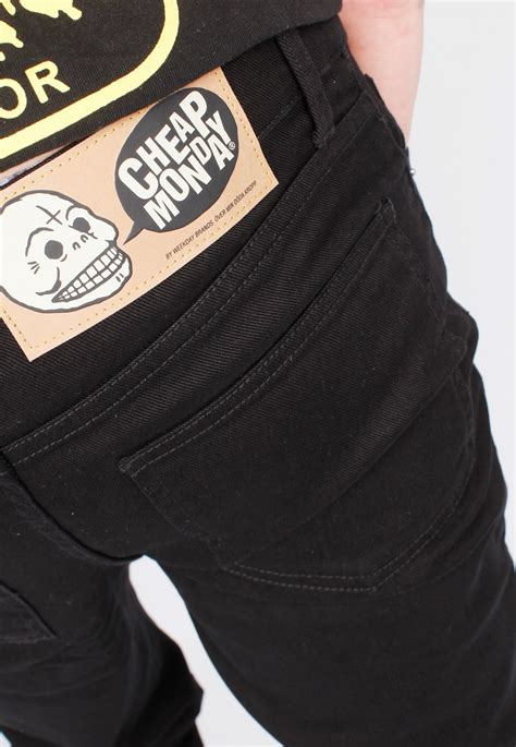 Celana Cheap Monday Black Hitam Slimfit Denim Cheapmonday jual cheap monday black celana denim grosir bandung